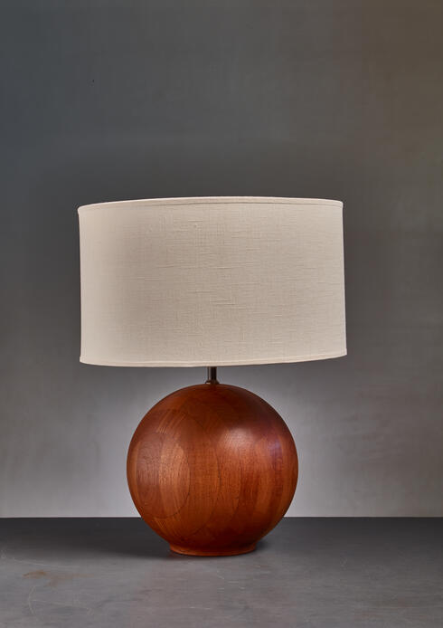 Bloomberry - Dyrlund globe shaped wood table lamp, Denmark