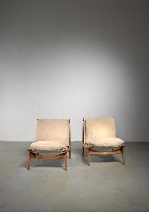 Bloomberry - Joseph-Andre Motte pair of chairs for Steiner