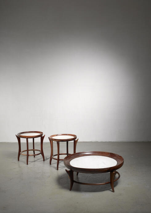 Bloomberry - Giuseppe Scapinelli set of three tables, Brazil