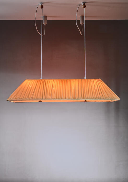 Bloomberry - Modernist yellow silk pendant lamp, Sweden