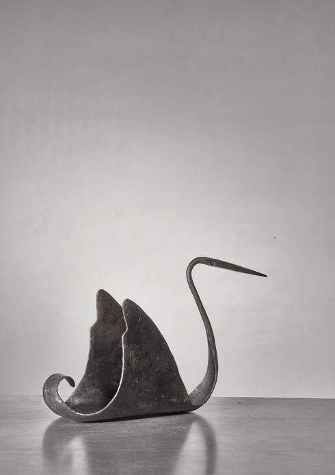 Bloomberry - Jean Touret zoomorphic iron sculpture, France, 1950s