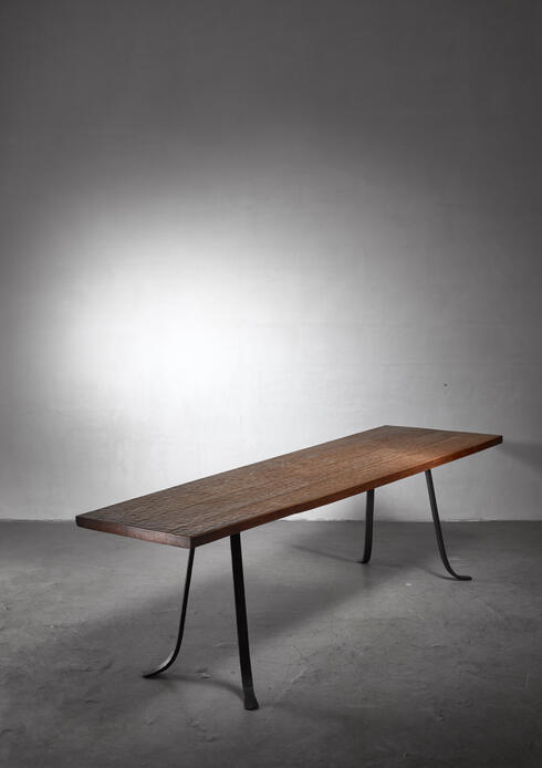 Bloomberry - Large trapezium shaped Atelier Marolles Table, France