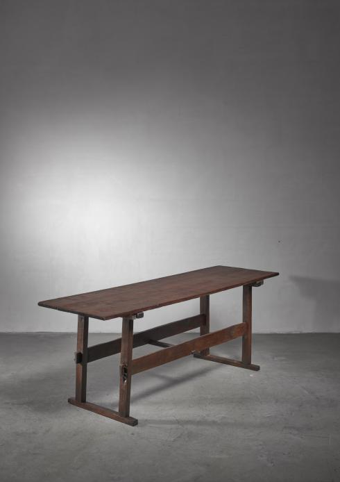 Bloomberry - Wooden work or dining table, early 20th century