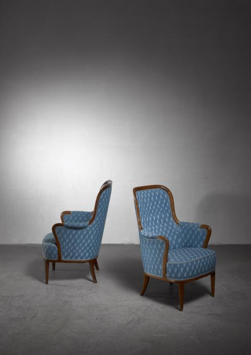 Bloomberry - Pair of Swedish Modern armchairs