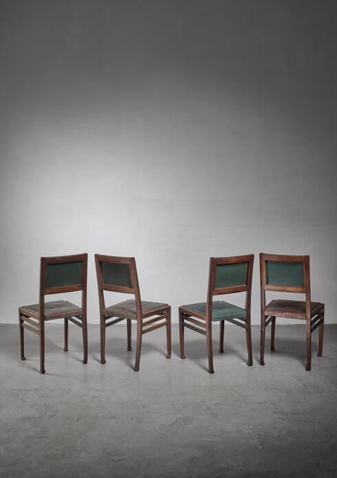 Bloomberry - Set of 4 Otto Wytrlik Jugendstil chairs