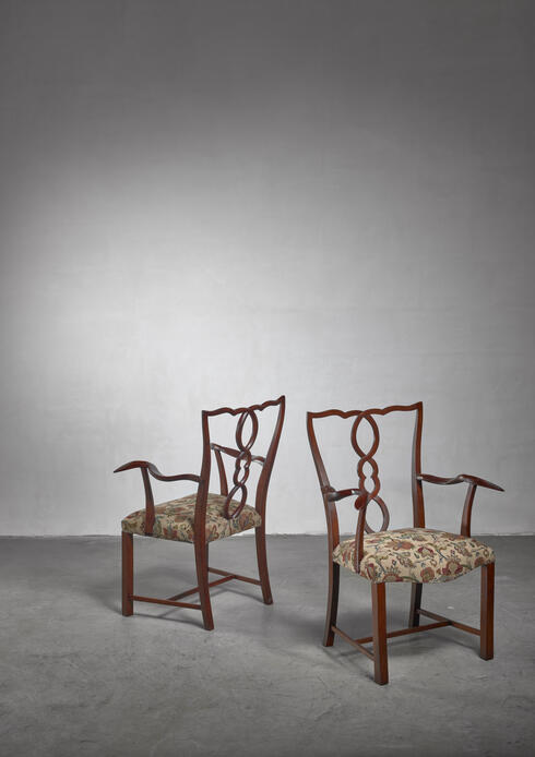Bloomberry - Pair of Hugo Gorge armchairs, Austria, 1920s