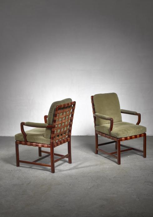 Bloomberry - Walter Sobotka armchairs, Austria, circa 1930