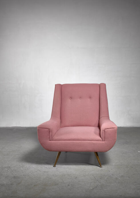 Bloomberry - Henry Glass lounge chair, USA, 1950s