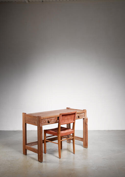 Bloomberry - Oak lady's desk with Axel Larsson chair