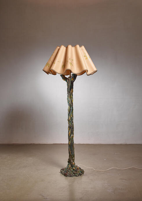 Bloomberry - Ceramic tree-shaped floor lamp, Italy