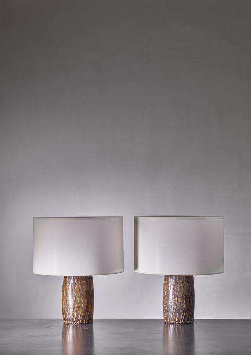 Bloomberry - Pair of Gunnar Nylund ceramic table lamps, Sweden