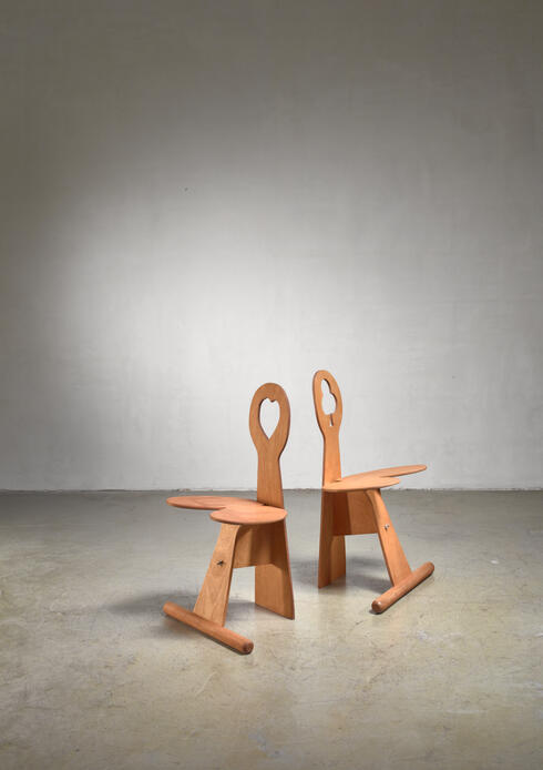 Bloomberry - Max Gottschalk pair of maple and plywood chairs