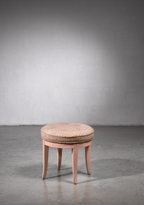 Bloomberry - Paul Frankl Swiveling Oak Stool, 1944