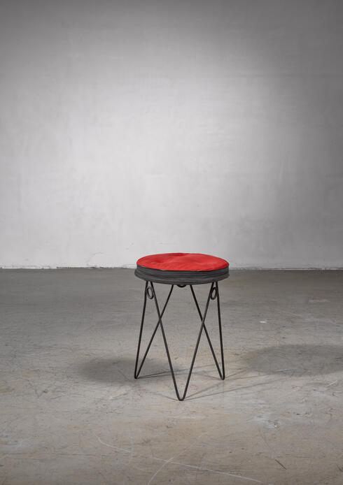 Bloomberry - Jean Royère style hairpin stool