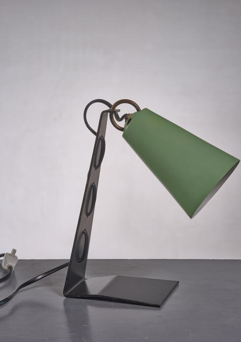 Bloomberry - Kalmar black and green metal table lamp