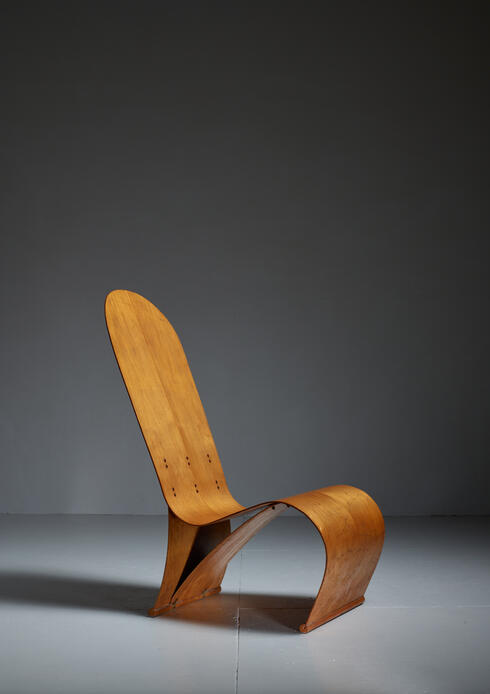 Bloomberry - Herbert Von Thaden Bent Plywood Lounge Chair, USA, 1940s