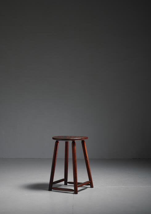 Bloomberry - Arthur Espenet Walnut Studio Craft Stool, American, 1961