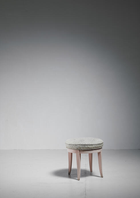Bloomberry - Paul Frankl Swiveling Oak Stool, USA, 1944