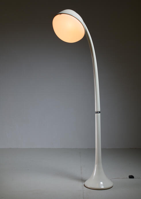 Bloomberry - Fabio Lenci Wood and perspex Floor lamp Lampione For Guzzini, Italy, 1970s