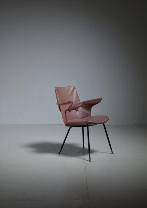 Bloomberry - Gastone Rinaldi DU20 Armchair by RIMA, Italy, 1950s