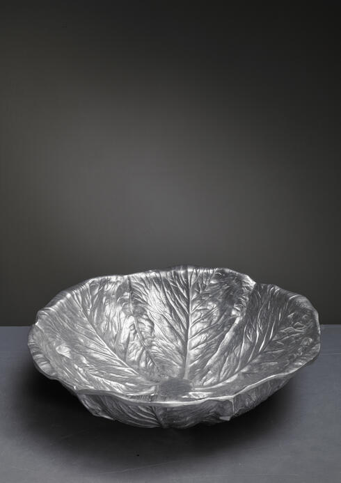 Bloomberry - Bruce Fox Aluminum Biomorphic Salad Bowl, USA, 1950s