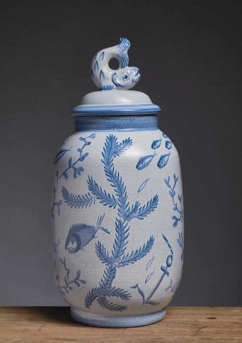 Bloomberry - Eva Jancke-Bjork ceramic vase for Bo Fajans, Sweden, 1940s