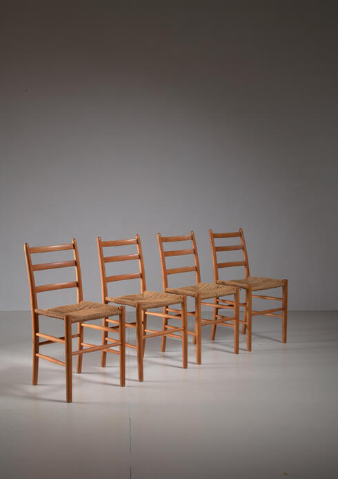 Bloomberry - Four Arne Jacobsen 'Novo' Chairs, Denmark, 1930s