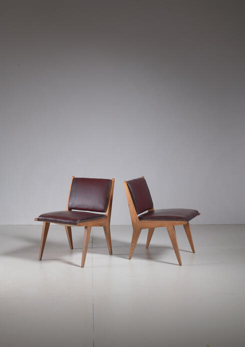 Bloomberry - Pair of Italian Side Chairs, Italy, 1950s