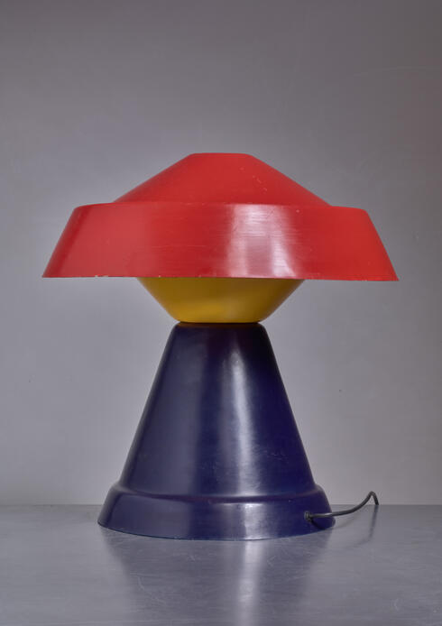 Bloomberry - Umberto Riva Very Rare Multicolor Polyester Table Lamp for VeArt, Italy, 1973