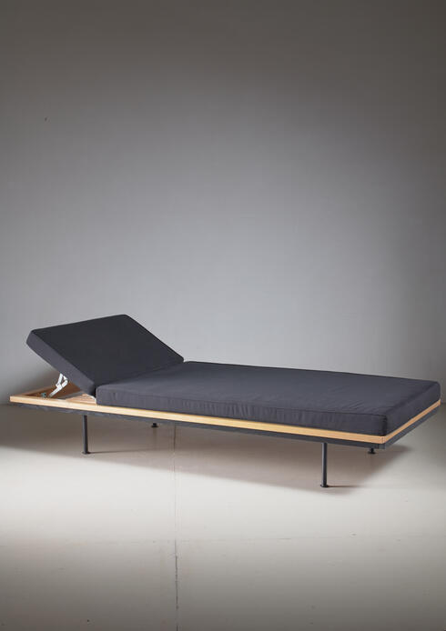 Bloomberry - Kurt Thut Daybed with Adjustable Headrest, Swiss, 1950s
