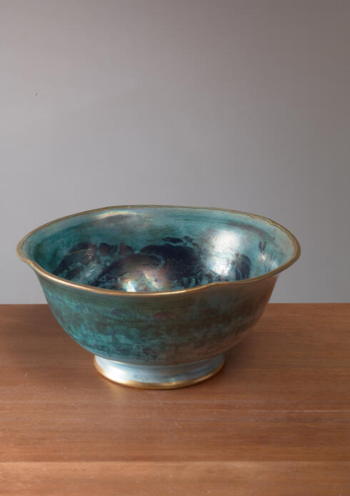 Bloomberry - Josef Ekberg Large Lustreware Ceramic Bowl for Gustavsberg, Sweden, 1929