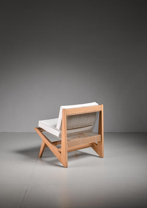 Bloomberry - Rope Sling Lounge Chair in the Manner of Albert Frey, USA, 1950s