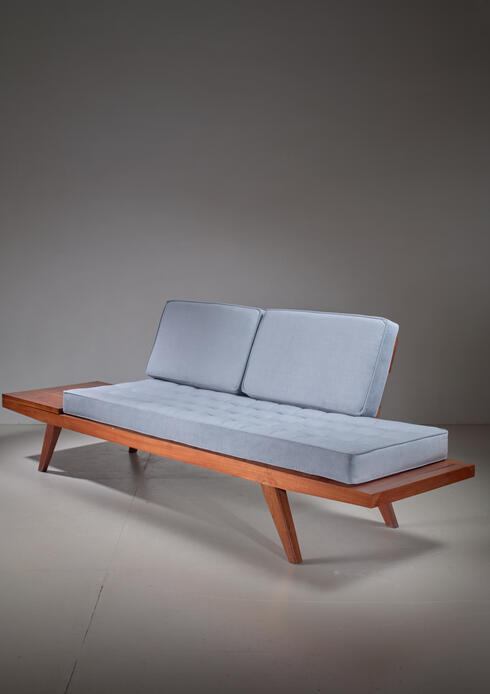 Bloomberry - Rude Osolnik Studio Crafted Wooden Sofa, USA, 1960s