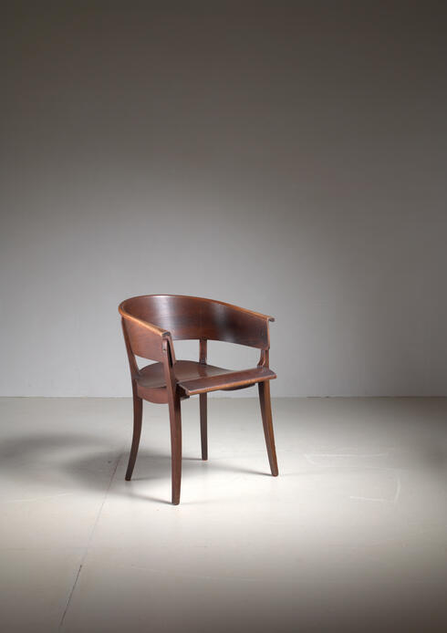 Bloomberry - Ernst Rockhausen Bauhaus Style Plywood and Oak Chair, Germany, circa 1928