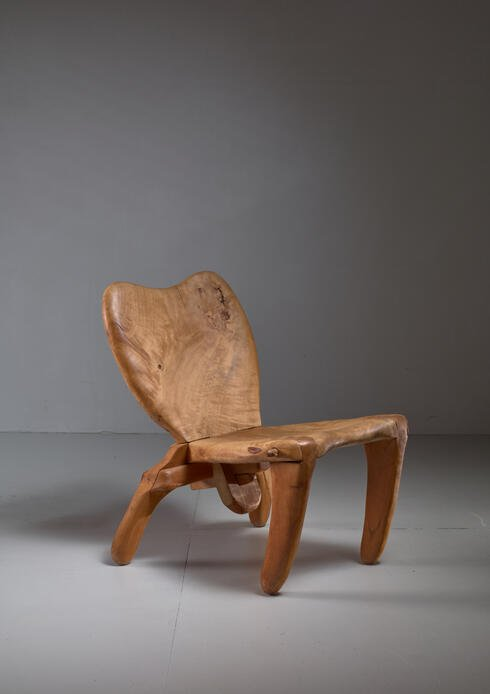 Bloomberry - Don Shoemaker Studio Craft Wooden Chair, Mexico, 1960s