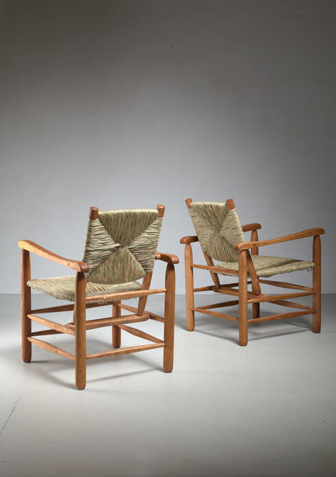 Bloomberry - Pair Charlotte Perriand 'model no. 21' lounge chairs