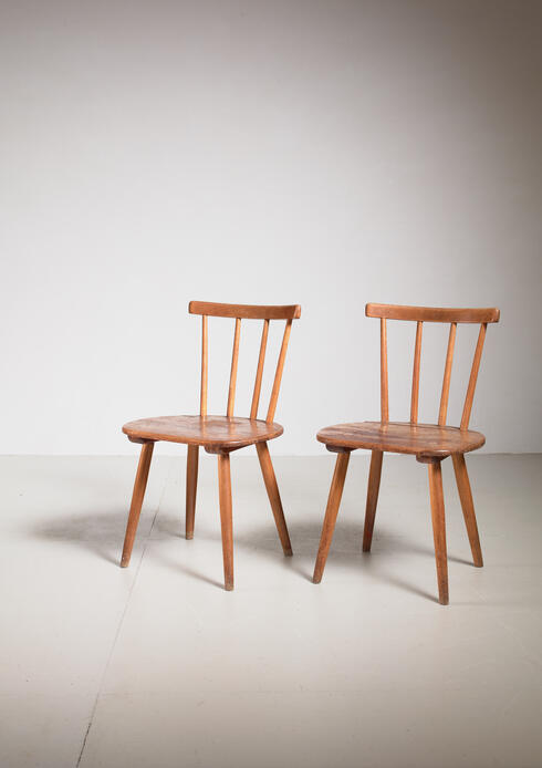 Bloomberry - Pair of Tubinger chairs by Adolf G. Schneck, Germany, 1930s