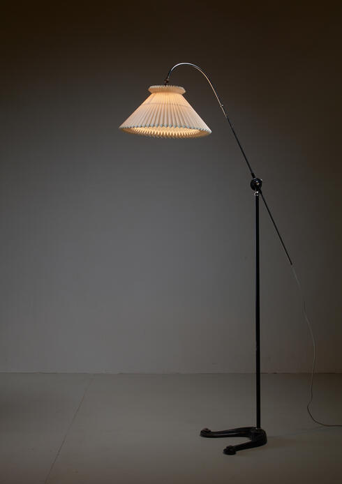 Bloomberry - Fog & Mørup Adjustable Metal Floor Lamp, Denmark, 1930s