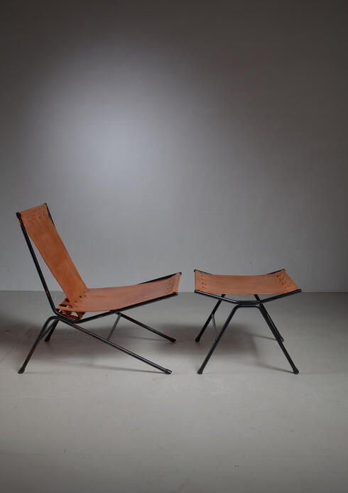 Bloomberry - Allan Gould lounge chair with ottoman, USA, 1950s