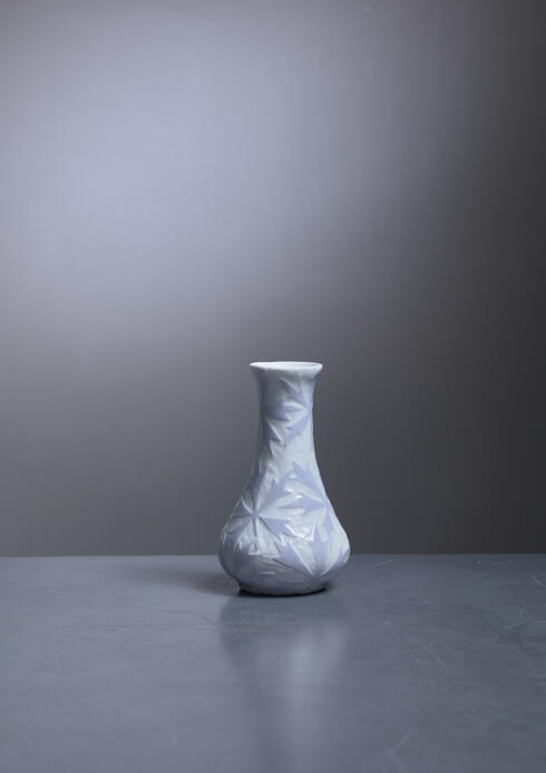 Bloomberry - Josef Ekberg rare lilac and white vase for Gustavsberg, 1902