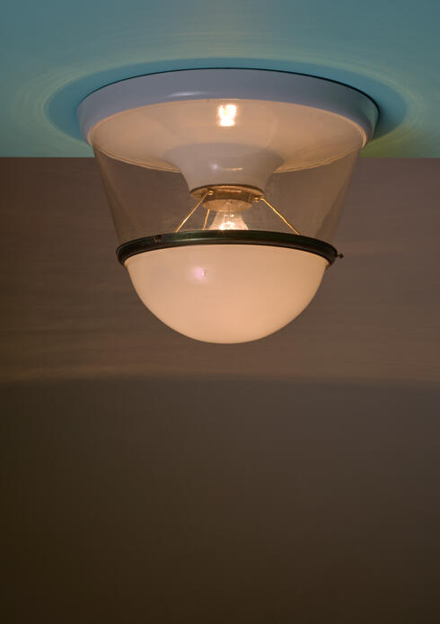 Bloomberry - One of Two Very Large and Early Modernist Ceiling Lamps, 1920s