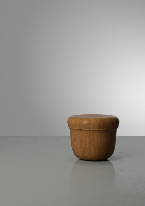 Bloomberry - Barrw laminated oak stool or side table by Hozan Zangana, Dutch, 2020