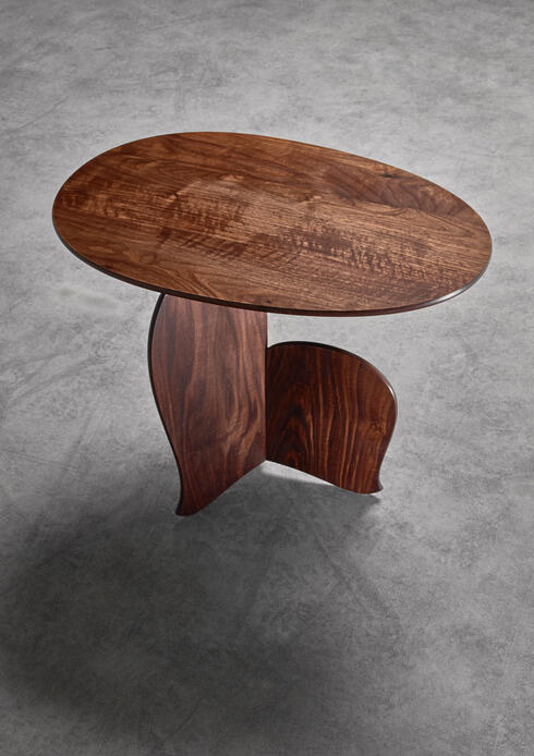 "Bloomberry - ""Nane Tiri"" side table in walnut by Hozan Zangana"