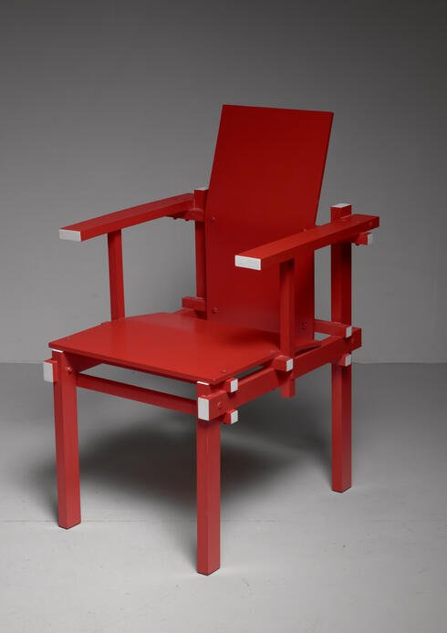 Bloomberry - Red Gerrit Rietveld armchair, The Netherlands, 1974